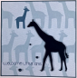 Preview: Baby - welcome little one Giraffe blau