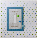 Happy Birthday - 1 blau
