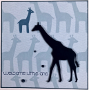 Baby - welcome little one Giraffe blau