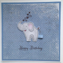 Happy Birthday - Elephant blau
