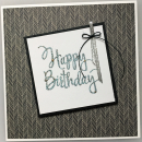 Happy Birthday - grau/silber